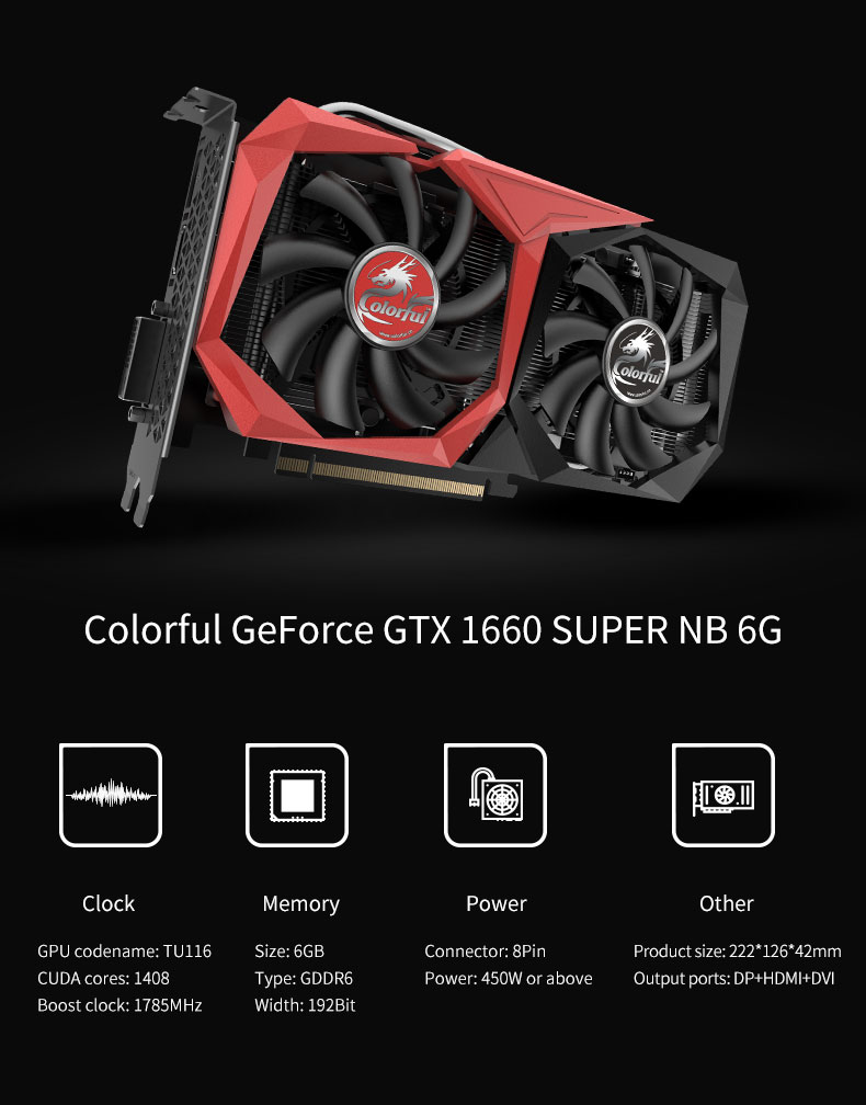 Colorful GeForce GTX 1660 SUPER NB 6G-V 1